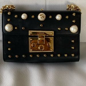 Small studded padlock shoulder bag Gucci Authentic